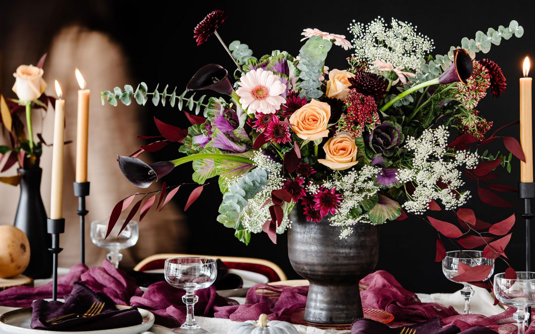 Floral Decor to Elevate Your Halloween Dinner Party